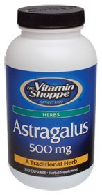 Astragalus (Root) 500mg Herbal Supplement to Support The Immune System Body's Natural Defenses Helps Build Stamina, Energy Vitality (300 Capsules) by The Vitamin Shoppe