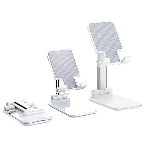 QIANMO Desk Mobile Phone Holder Stand ForMetal Desktop Tablet Holder Table Cell Foldable Extend Support