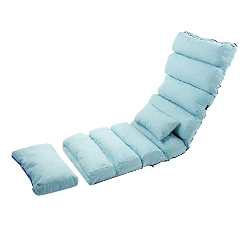 Folding Sofa,2 in1 5Positions Recliner Chair Adjustable Lazy Sofa Sleeper Seat Chair Large Floor Chair Convertible Armchair Sofa Couch Bed Lounge Chair with Pillow for Bedroom Living Room Office Adult