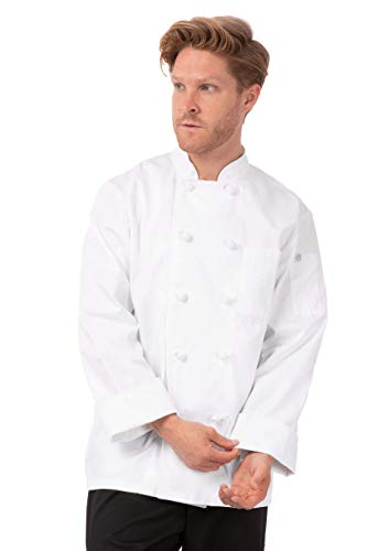 Chef Works unisex adult Bordeaux Coat chefs jackets, White, Medium US