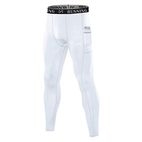 MEETYOO Leggings Hombre, Mallas Running Pantalon Deporte Pantalón de Compresión para Fitness Yoga Gym