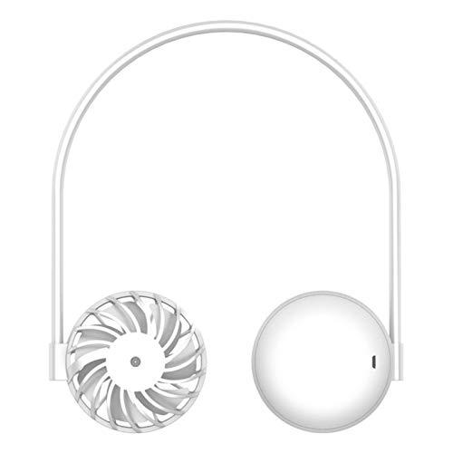 BAHER Ventilador Portátil de Cuello Colgante Mini Ventilador de Cuello Recargable USB Manos Libres Ventilador Ajustable para El Cuello Deportivo Personal Flujo de Aire de 3 Niveles para