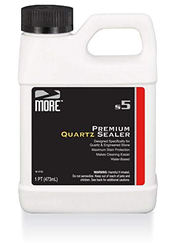 MORE Premium Quartz Sealer Protector for Countertops - Protect Surfaces and Make Cleaning Easier [Pint / 16oz]