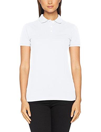 Clique Damen Premium Polo Shirt Polohemd, weiß, M