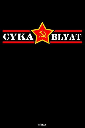 Cyka Blyat Notizbuch: Lustiges Russland Buch Russisches Meme Journal Gopnik Geschenk