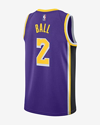 Lonzo Ball Los Angeles Lakers #2 Youth Purple Alternate Swingman Jersey (Small 8)