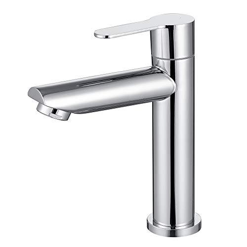 ONECE Wasserhahn Kaltwasser Armatur Gäste WC Kaltwasserhahn Standventil kaltwasserarmatur mit Anschlussschlauch