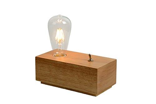 Lucide EDISON - Lampe De Table - LED - 1x4W 3000K - Bois