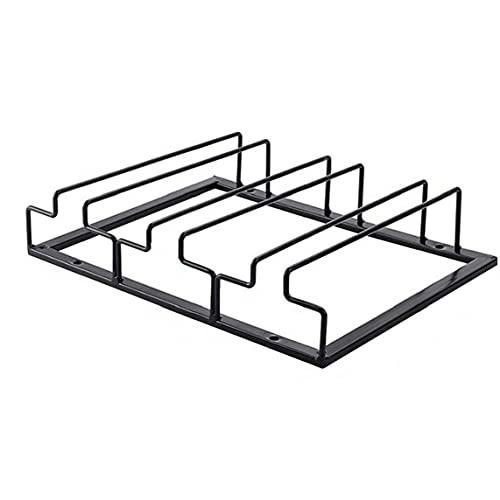 Obelunrp Titular de Vidrio Vino, Racks de Vidrio Colgando Topware Titular Estante Organización de Almacenamiento para Gabinete Bar Cocina Decoración Negro