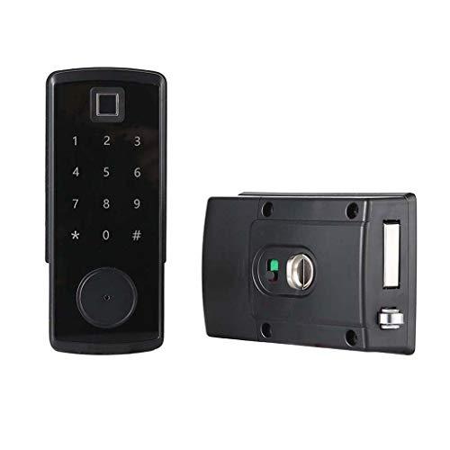 Fenteer Elektroniskt dörrlås biometriskt fingeravtryck lösenordslås för ytterdörr, husdörr – fingeravtryck
