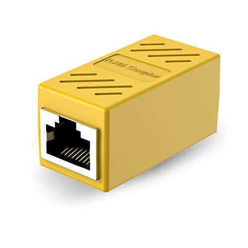 JIYAMI'EN EL-b Conector Hembra de la Red de acopladores Adaptador de Extensor de Cable Ethernet Hembra a Mujer RJ 45 convertidores (Bundle : 1pc, Color : Yellow)