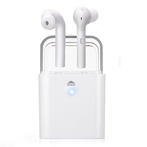 Bluetooth-Kopfhörer, kabellos, kabellos, mit 3D-Stereo-Sound, Geräuschunterdrückung, für 16 Stunden Spielzeit für iPhone und Android weiß