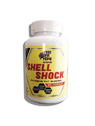 Shell Shock Extreme Fat Burner #1 All Natural Fat Burner with Apple Cider Vinegar, Capsimax, Green Tea, Green Coffee Bean, L-Carnitine, Açaí Berry 30 Servings
