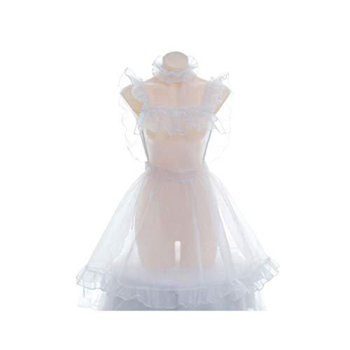 Exceart Sexy Dessous Outfits Verspielte Sexy Kostüm Dienstmädchen Flirty Französisch Dienstmädchen Necken Durchsichtiges Kleid Nachtwäsche Bodysuit