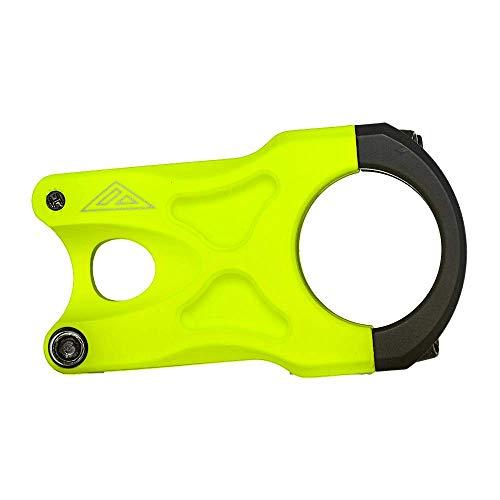 AZONIC | Fahrrad-Vorbau | MTB Downhill Freeride Mountainbike BMX | CNC gefrästes 6061-T6 Aluminium, 31,8mm Bohrungsdurchmesser, Gewicht: 150g | The Rock Stem | Neon-Gelb
