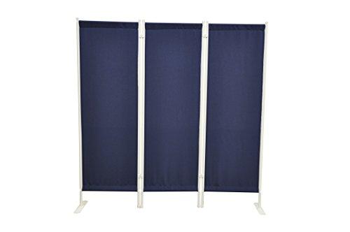 Leco Paravent Klassik, 3-teilig, blau