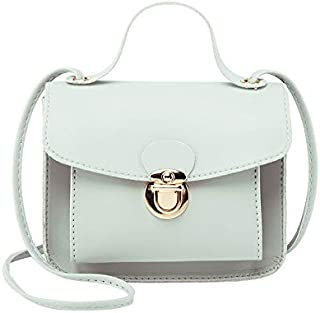 Bag Female Summer New Wild Slanting Portable Mini Lock Buckle Trend Small Square Bag (Color : Grey)