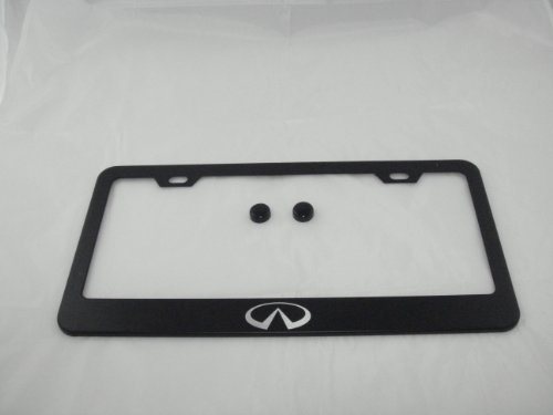 Infiniti Black License Plate Frame with Cap