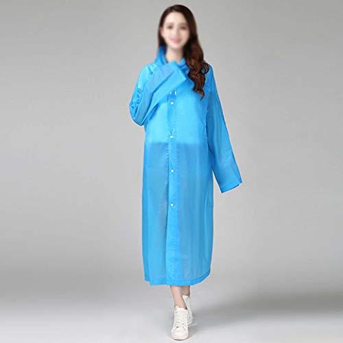 DongYuXuXi mode Eva vrouwen regenkleding verdikt waterdicht regenjas vrouwen helder transparant tour waterdicht regenkleding pak blauw
