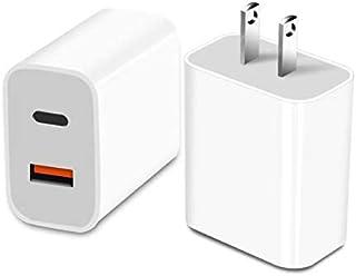 【2ポート】PD充電器 18W 急速充電器 アダプタ Type-C PD3.0 / QC3.0対応 USB-C/USB-A 2ポート iPhone 12 / 12 Pro/iPhone 11 Pro Max/iPhone X Pro Max/i...