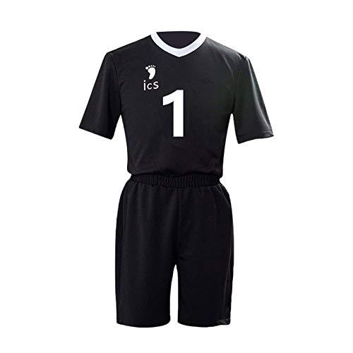 YZJYB Anime Haikyuu Cosplay Volleyball Uniforme Daichi Sawamura No.1 Jersey Camisas Y Pantalones Set Inarizaki High School Cosplay Ropa Deportiva,3XL