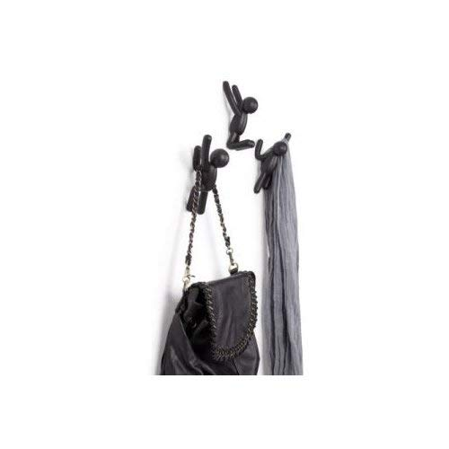 Umbra 318165 040   Perchero de pared (plástico, Set of 3), color negro