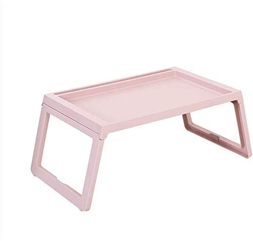 Norte de Europa Laptop Cama Mesa de Mesa de plástico Bandeja Plegable Bandeja Holders de Lectura (Rosa)