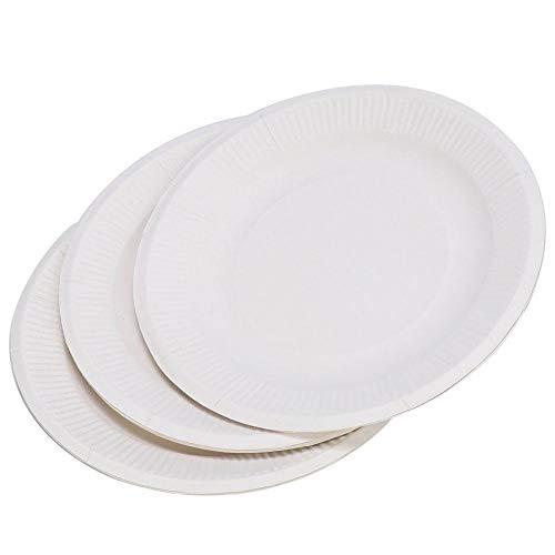 30 piezas de plato de papel desechable, paletas desechables, platos de pastel, bandeja de pintura para niños, juguetes de dibujo, suministros de paleta de pintura de acuarela(6in)