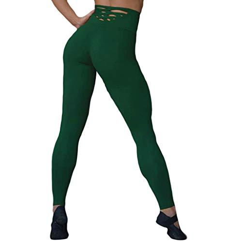Vrouwen Hoge Taille Yoga Broek, Sport Workout Leggings, Hip-lifting Oefening Broek met Holle Tight Hardlopen Yoga Broek