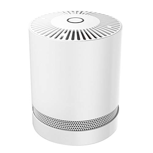 KJ45G-P03 Room Air Purifiers 360° Air Outlet Indoor Air Purifier Cleaner for Allergies, Negative Ion 30db Air Purifier Filteration for Home Car Office White