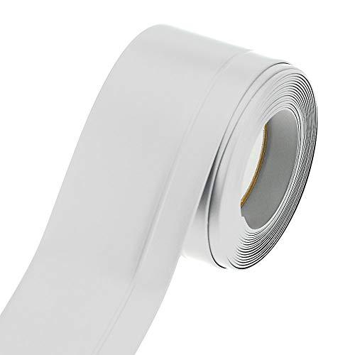 Plinthe souple flexible en PVC de haute qualité MadeInNature®/ Blanc, Gris clair, Gris foncé, Noir, hauteur 60 mm ou 120 mm/Longueur au choix (Hauteur 60 mm x 10 m, Blanc)