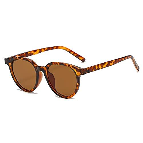AMFG Gafas de sol ovaladas retro Tendencia femenina Gafas de sol Masculina Sart A Sunshade Decorativo Sombrilla Al Aire Libre Mirror (Color : A)