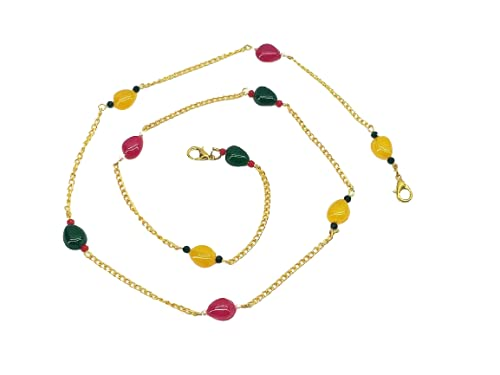 Cadena para gafas de sol de lectura con máscara ajustable con cuentas de cadena de cordón para correa de gafas, collar de cadena para mujeres con clips
