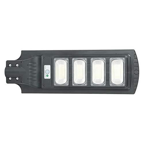 Mxzzand Lámpara de inducción LED Luz de Calle al Aire Libre Lámpara de detección Solar policristalina Lámpara de Sensor de Movimiento Sensor de Movimiento de inducción de Radar para Campus Granjas
