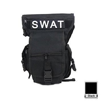 HuntGold Multi- fonction swat wasit acryliqueleg sac pochette tranchelard tactique, ceinture, pack sac en nylon(Noir)