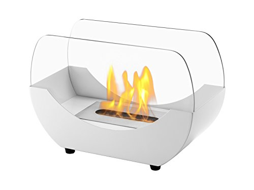 Buy Bargain IGNIS Portable Ventless Bio Ethanol Tabletop Fireplace - Liberty White (White)