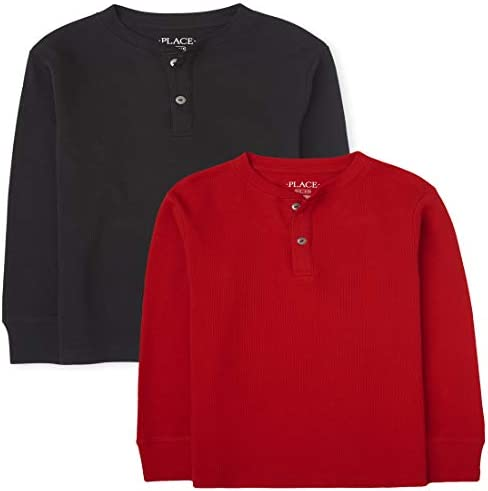 The Children s Place Boys Thermal Henley Top 2 Pack Multi Clr L 10 12 product image