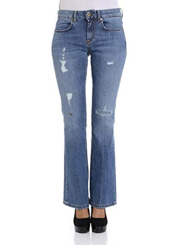DONDUP Luxury Fashion Donna DP297DS176DR09T800 Blu Elastan Jeans   Stagione Outlet