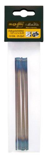 Augusta Dekupiersäge-Ersatzblätter 10 Stück 127 x 2 x 0,25 mm für Holz und Kunststoff, 0735 127x2x0,25 AMA