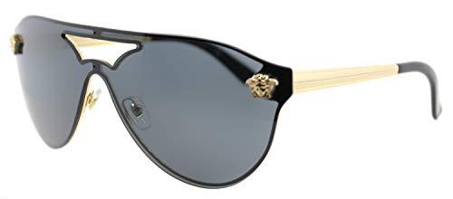 Versace Damen 0VE2161 100287 0 Sonnenbrille, Gold (Gold/Gray), 63