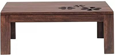 Shilpi Pure Sheesham Wood Hand Caved Modern Style Coffee Table, Living Room Center Table