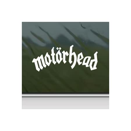 Motorhead White Sticker Decal Lemmy Metal Rock Band White Car Window Wall Macbook Notebook Laptop Sticker Decal By Faststicker Baumarkt