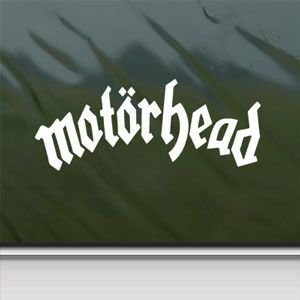 Motorhead White Sticker Decal Lemmy Metal Rock Band White Car Window Wall Macbook Notebook Laptop Sticker Decal by faststicker