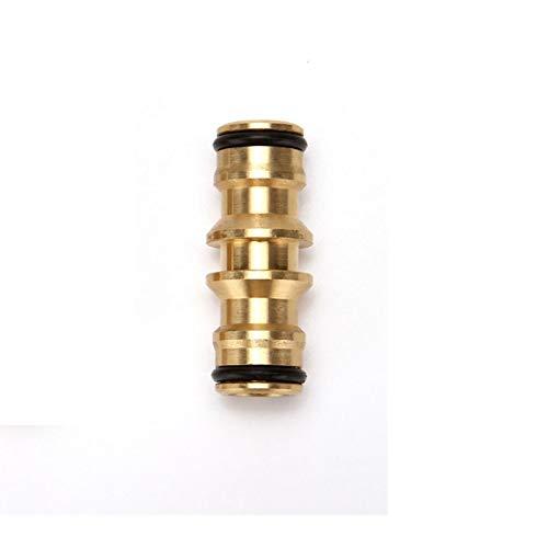 Qingn-Manguera de latón 5/8'accesorios de conexión de tubería de riego de jardín, adaptador de grifo de manguera bidireccional rápida conector de acoplamiento, Conexión rápida (Color : 1pcs)