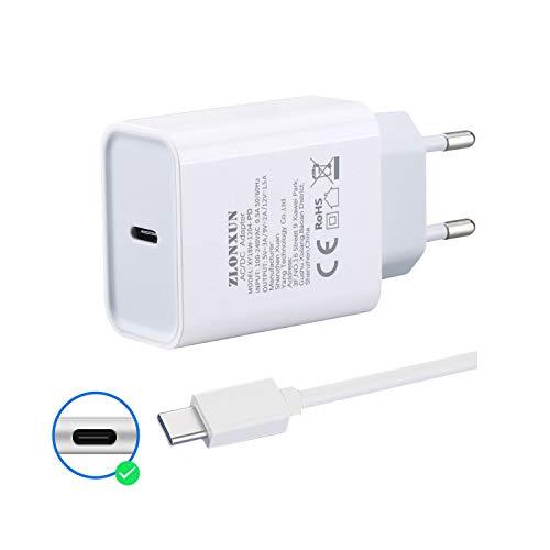 ZLONXUN Schnell ladegerät Netzteil mit USB-C Kabel für Xiaomi Redmi 8/Note 8/Note 9 Pro/9/8A/10X,Xiaomi Mi 9T/9 Lite/9 Schnellladegerät Netzteil