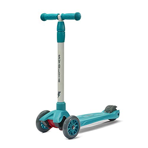 SVOLTA Mega 3-Wheel Scooter for Kids - Teal and Gray