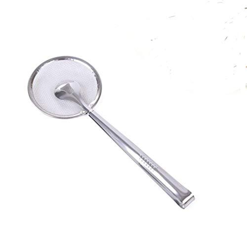 MoonyLI 2 in1 Ölskimmer Sieb Edelstahl Feinmaschige Siebzange Ölfilterlöffel Multifunktionaler Küchenwerkzeug-Sieblöffel (2 Stück)