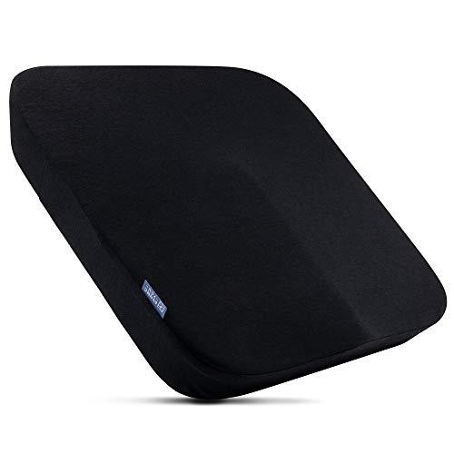 DYNMC YOU - Cómodo cojín ergonómico para silla de oficina - Diseño moderno - máxima calidad - Relleno de espuma viscoelástica dura - funda suave - Negro