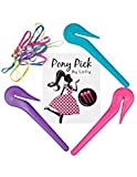 Lolly Pony Pick - Hair Elastic Band Cutter, Blue, Pink and Purple, 0.05 Pound (B078G9FJHJ)