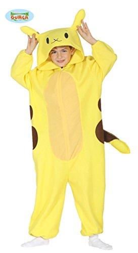 Fiestas Guirca- Costume Pokémon Pikachu Bambino 7/9 Anni, Colore Giallo, Large (7-9 Yrs), 86006